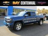 2016 Deep Ocean Blue Metallic Chevrolet Silverado 1500 LT Z71 Double Cab 4x4 #108108619