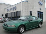 2001 Electric Green Metallic Ford Mustang V6 Coupe #10787461