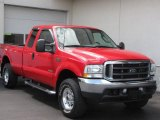 2003 Red Clearcoat Ford F250 Super Duty Lariat SuperCab 4x4 #10791645