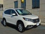 2013 White Diamond Pearl Honda CR-V EX AWD #108144420