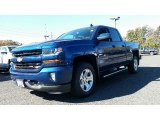 2016 Deep Ocean Blue Metallic Chevrolet Silverado 1500 LT Z71 Double Cab 4x4 #108143866