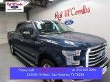 2015 Blue Jeans Metallic Ford F150 XLT SuperCrew #108205058