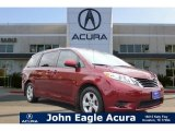 2012 Salsa Red Pearl Toyota Sienna LE #108230527