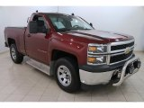 2014 Deep Ruby Metallic Chevrolet Silverado 1500 WT Regular Cab 4x4 #108230788