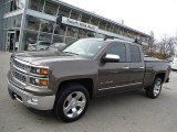 2014 Brownstone Metallic Chevrolet Silverado 1500 LTZ Double Cab 4x4 #108259767