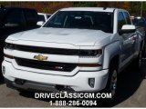 2016 Summit White Chevrolet Silverado 1500 LT Z71 Double Cab 4x4 #108287180