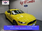 2016 Triple Yellow Tricoat Ford Mustang GT Premium Coupe #108286925