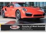 2016 Lava Orange Porsche 911 Turbo S Coupe #108287142