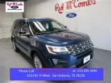 2016 Blue Jeans Metallic Ford Explorer XLT #108315674