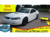 2000 Crystal White Ford Mustang V6 Coupe #108315526
