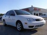 2005 Cloud 9 White Ford Focus ZX4 SE Sedan #10837226