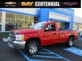 2013 Victory Red Chevrolet Silverado 1500 Work Truck Regular Cab 4x4 #108472186