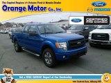 2014 Blue Flame Ford F150 STX SuperCab 4x4 #108472321
