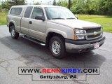 2004 Silver Birch Metallic Chevrolet Silverado 1500 Z71 Extended Cab 4x4 #10841794