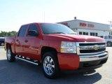 2008 Victory Red Chevrolet Silverado 1500 LT Crew Cab #10837221