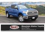 2016 Blazing Blue Pearl Toyota Tundra SR5 CrewMax 4x4 #108537393