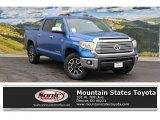 2016 Blazing Blue Pearl Toyota Tundra Limited CrewMax 4x4 #108537386