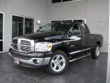 2008 Brilliant Black Crystal Pearl Dodge Ram 1500 Big Horn Edition Quad Cab #10827793