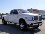 2008 Bright White Dodge Ram 3500 Lone Star Quad Cab 4x4 Dually #10837231
