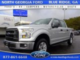 2015 Ingot Silver Metallic Ford F150 XL SuperCrew 4x4 #108555891