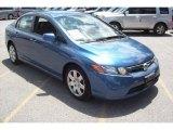 2007 Atomic Blue Metallic Honda Civic LX Sedan #10842028