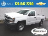 2016 Summit White Chevrolet Silverado 1500 WT Regular Cab 4x4 #108572826