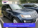 2016 Blue Jeans Metallic Ford Explorer XLT #108610021