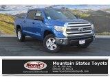 2016 Blazing Blue Pearl Toyota Tundra SR5 CrewMax 4x4 #108643516