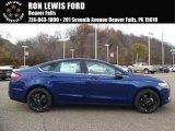 2016 Deep Impact Blue Metallic Ford Fusion SE #108673735