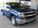 2016 Deep Ocean Blue Metallic Chevrolet Silverado 1500 LT Crew Cab 4x4 #108703372