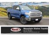 2016 Blazing Blue Pearl Toyota Tundra Limited CrewMax 4x4 #108728402