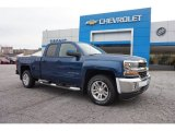 2016 Deep Ocean Blue Metallic Chevrolet Silverado 1500 LT Double Cab 4x4 #108755003