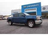 2016 Deep Ocean Blue Metallic Chevrolet Silverado 1500 LT Crew Cab 4x4 #108755002