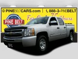 2010 Sheer Silver Metallic Chevrolet Silverado 1500 LS Crew Cab 4x4 #108794714