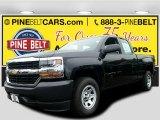 2016 Black Chevrolet Silverado 1500 WT Double Cab 4x4 #108824543