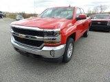 2016 Red Hot Chevrolet Silverado 1500 LT Double Cab 4x4 #108825090