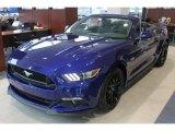 2016 Deep Impact Blue Metallic Ford Mustang GT Premium Convertible #108824466