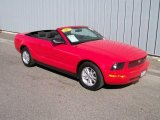 2007 Torch Red Ford Mustang V6 Deluxe Convertible #1085699