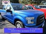 2016 Blue Flame Ford F150 XL SuperCab #108864518