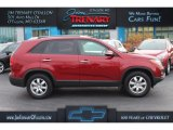 2011 Spicy Red Kia Sorento LX #108905242