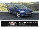2015 Deep Impact Blue Metallic Ford Fusion Hybrid Titanium #108921702