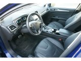 2015 Ford Fusion Hybrid Titanium Charcoal Black Interior
