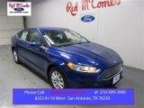 2016 Deep Impact Blue Metallic Ford Fusion S #109001484