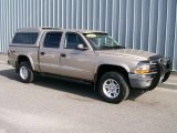 2004 Light Almond Pearl Metallic Dodge Dakota SLT Quad Cab 4x4 #1085859