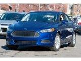 2016 Deep Impact Blue Metallic Ford Fusion SE #109040580