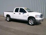 2007 Bright White Dodge Ram 1500 SLT Quad Cab 4x4 #1085856