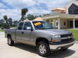 2000 Light Pewter Metallic Chevrolet Silverado 1500 LS Extended Cab 4x4 #10907196