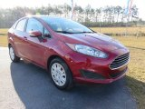 2015 Ruby Red Metallic Ford Fiesta SE Sedan #109147256