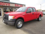 2010 Vermillion Red Ford F150 XL SuperCab 4x4 #109232091