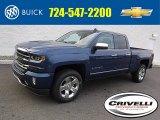 2016 Deep Ocean Blue Metallic Chevrolet Silverado 1500 LT Z71 Double Cab 4x4 #109273928